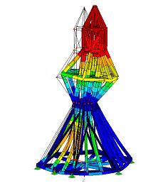 Model historické věže krovu